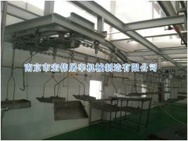 悬挂式白脏同步检疫输送机