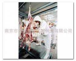 羊吊挂剔骨分割
